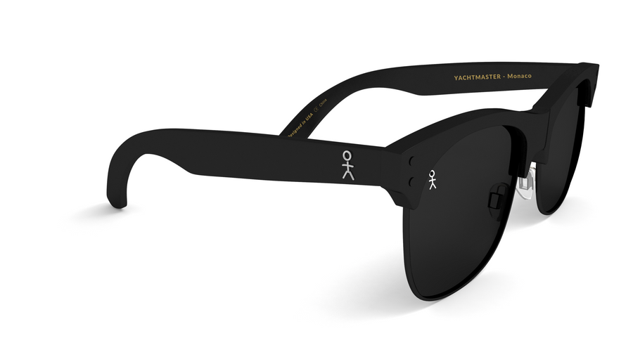 Yachtmaster - Monaco - Matte Black Sunglasses - Shades Club Sunglasses  - 1