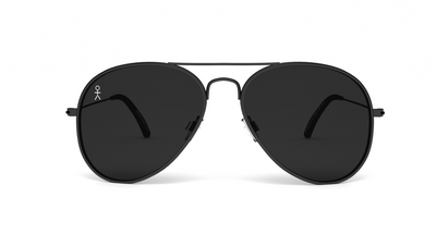 Jetsetter Aviator - NYC - Matte Black/Smoke 58mm - Dicks Cottons Sunglasses  - 1