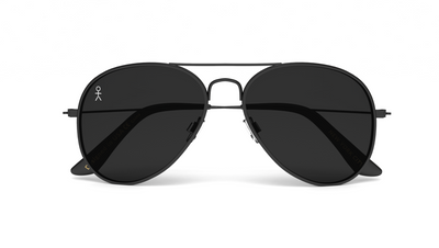 Jetsetter Aviator - NYC - Matte Black/Smoke 58mm - Dicks Cottons Sunglasses  - 4