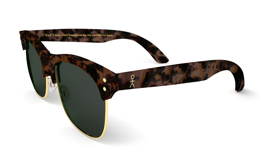 Studmaster - Out Here by Mike Stud - Matte Tort + Gold (Polarized) - Dicks Cottons Sunglasses  - 1