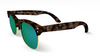 Yachtmaster - Portofino - Tortoise and Green Mirrored Sunglasses - Dicks Cottons Sunglasses  - 3