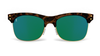 Yachtmaster - Portofino - Tortoise and Green Mirrored Sunglasses - Dicks Cottons Sunglasses  - 1