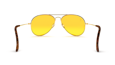 Jetsetter Aviator - SAN FRANCISCO - Gold / Yellow Lens 58mm - Shades Club Sunglasses  - 6
