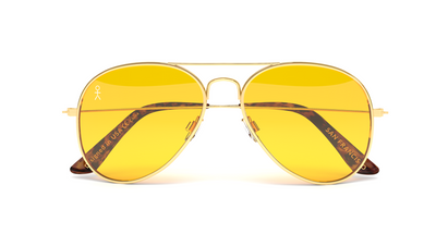 Jetsetter Aviator - SAN FRANCISCO - Gold / Yellow Lens 58mm - Shades Club Sunglasses  - 4