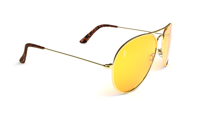 Jetsetter Aviator - SAN FRANCISCO - Gold / Yellow Lens 58mm - Shades Club Sunglasses  - 2