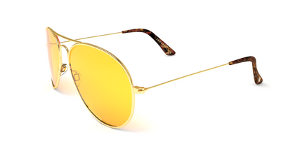 Jetsetter Aviator - SAN FRANCISCO - Gold / Yellow Lens 58mm - Shades Club Sunglasses  - 3