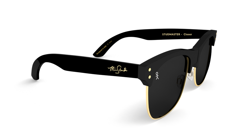 Studmaster - Closer by Mike Stud - Black + Gold - Shades Club Sunglasses  - 1