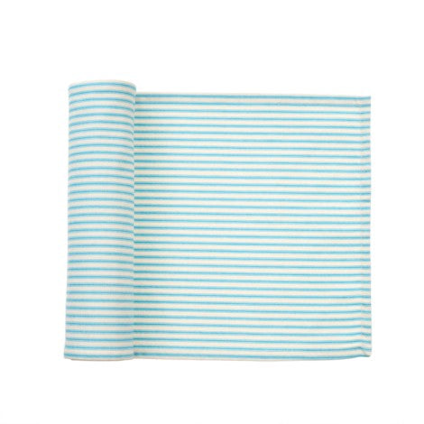 Blue Ticking Table Runner
