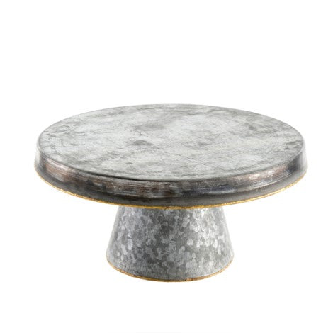 Galvanized & Brass Accent Pedestal