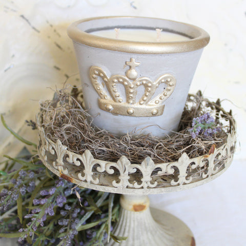 Duchess ~ organic Soy wax Lavender double wick candle