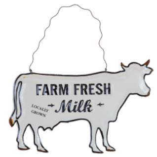 Farm Fresh Milk Wall Decor