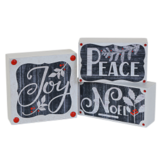 Joy - Wooden Decor Block