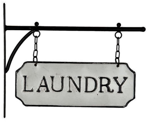 Laundry Sign - Vintage Inspired Metal