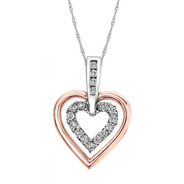 ROSE GOLD DIAMOND HEART PENDANT PEN-DIA-0992