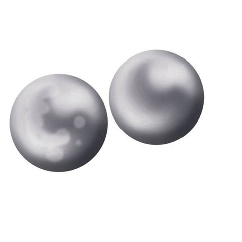 SILVER GREY CULTURED FW PEARL EARRINGS EAR-GEM-0659
