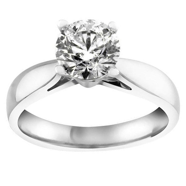 White Gold 100 Carat Canadian Diamond Solitaire Ring Paris Jewellers