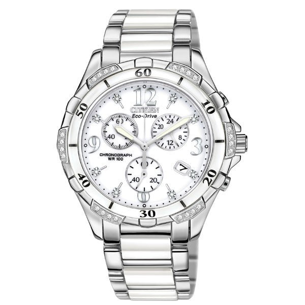 Citizen Women's White Ceramic Watch