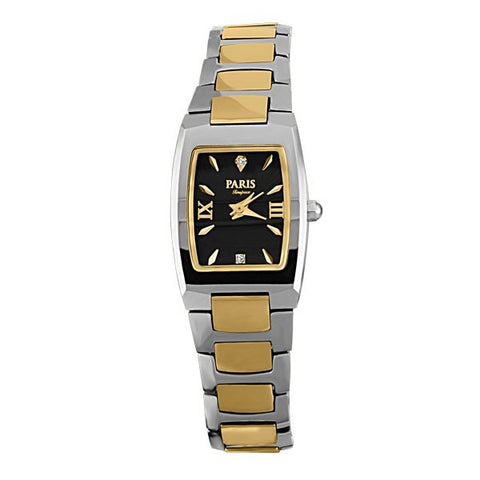 LADIES PARIS TIMEPIECE TWO TONE TUNGSTEN WATCH WAT-LBA-0057