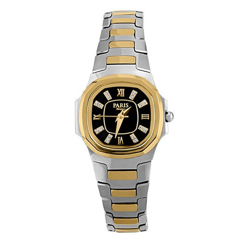 LADIES PARIS TIMEPIECE TWO TONE TUNGSTEN WATCH WAT-LBA-0067