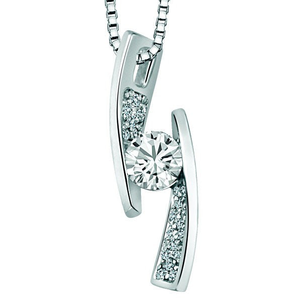WHITE GOLD DIAMOND PENDANT PEN-DIA-2420