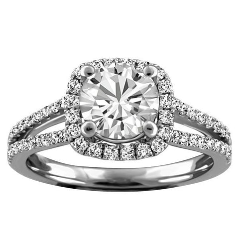 WHITE GOLD CANADIAN DIAMOND ENGAGEMENT RING RIN-LCA-2748