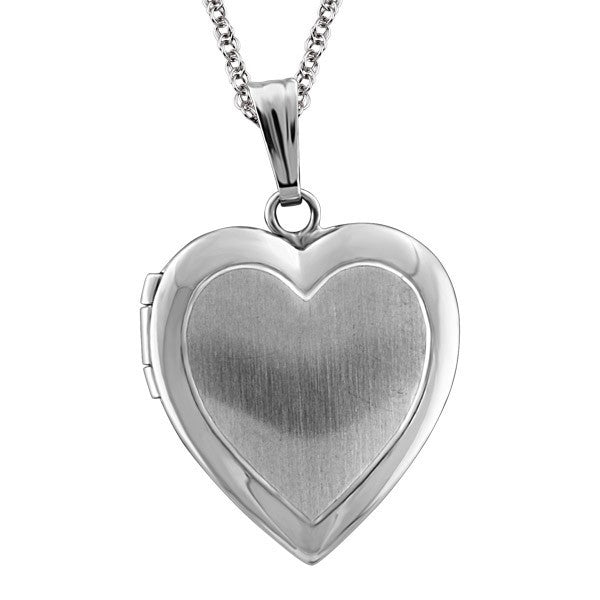 SILVER HEART LOCKET LOC-SIL-0020