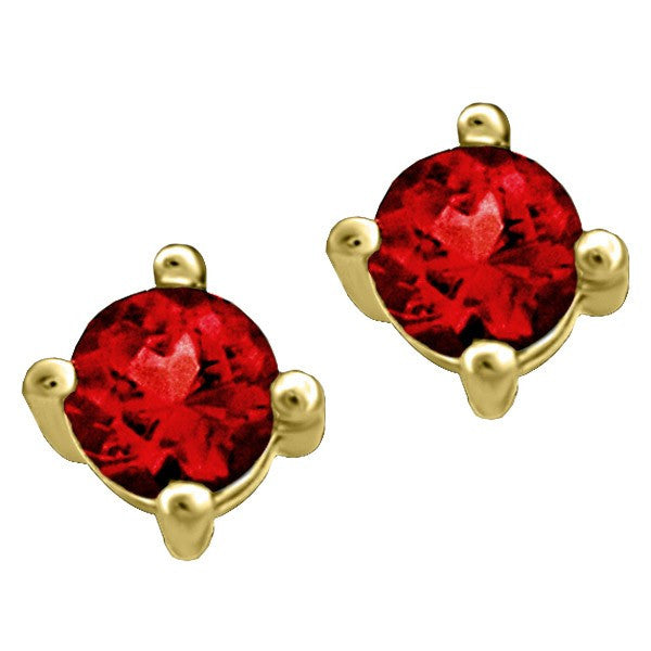GOLD GARNET STUD EARRINGS EAR-BIR-0003