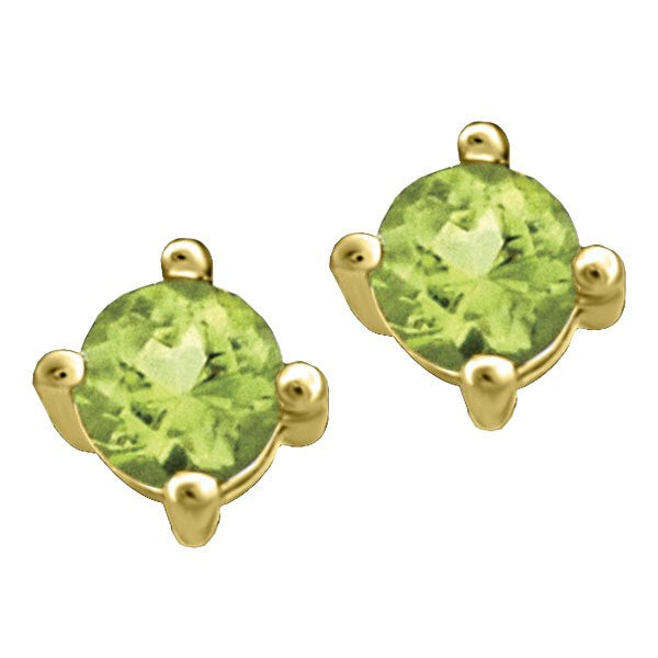 GOLD PERIDOT STUD EARRINGS EAR-BIR-0006