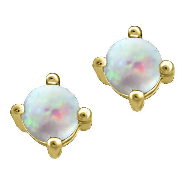 GOLD OPAL STUD EARRINGS EAR-BIR-0008
