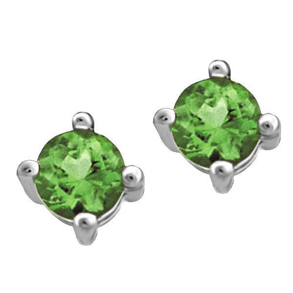 WHITE GOLD EMERALD STUD EARRINGS EAR-BIR-0014