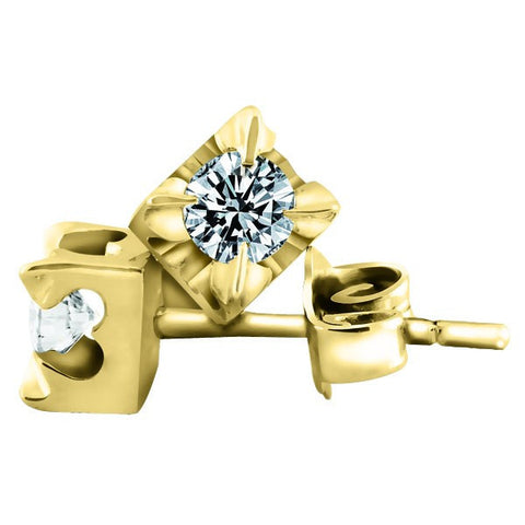 GOLD 1.00 CTW CANADIAN DIAMOND STUD EARRINGS EAR-CAN-0216