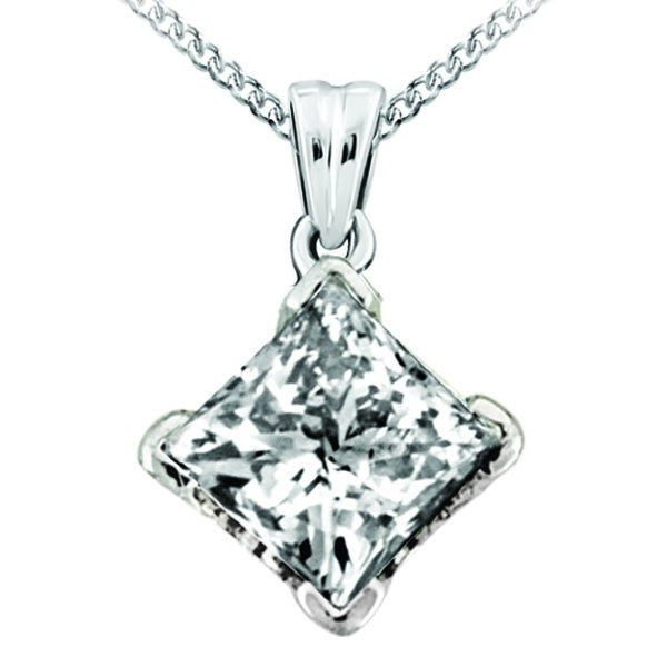 WHITE GOLD 0.25 CTW CANADIAN DIAMOND PENDANT PEN-CAN-0416