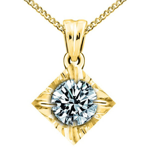 GOLD 0.15 CTW CANADIAN DIAMOND PENDANT PEN-CAN-0446