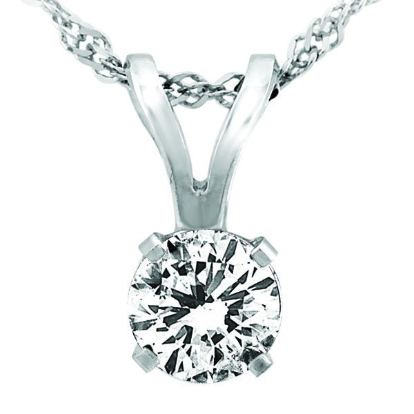WHITE GOLD 0.10 CTW CANADIAN DIAMOND PENDANT PEN-DSP-0011