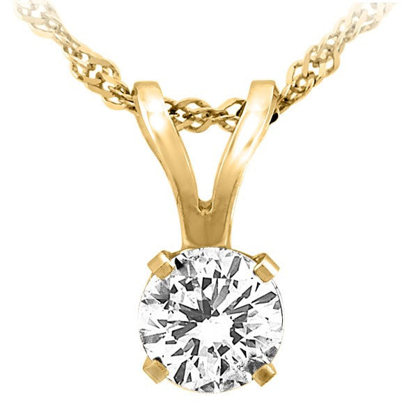 GOLD 0.25 CTW CANADIAN DIAMOND PENDANT PEN-DSP-0014