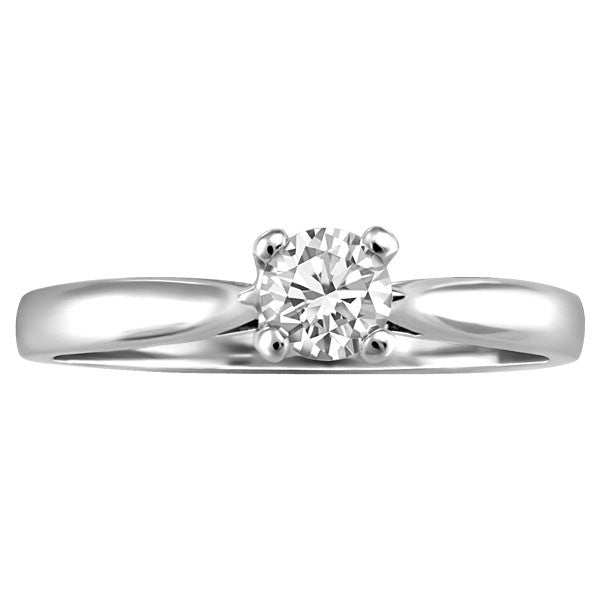 WHITE GOLD 0.25 CT SOLITAIRE ENGAGEMENT RING RIN-SOL-0350