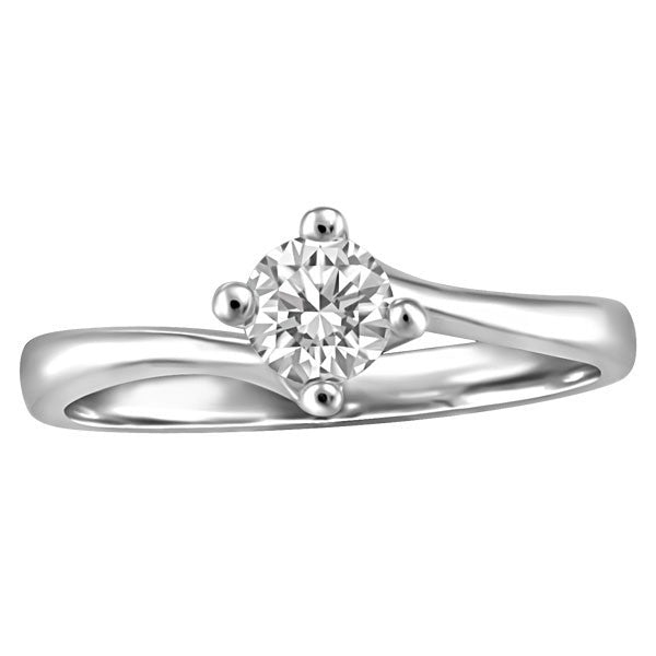 WHITE GOLD 0.33 CT SOLITAIRE ENGAGEMENT RING RIN-SOL-0351