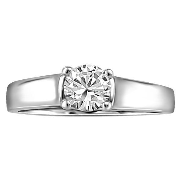 WHITE GOLD 0.50 CT SOLITAIRE ENGAGEMENT RING RIN-SOL-0353