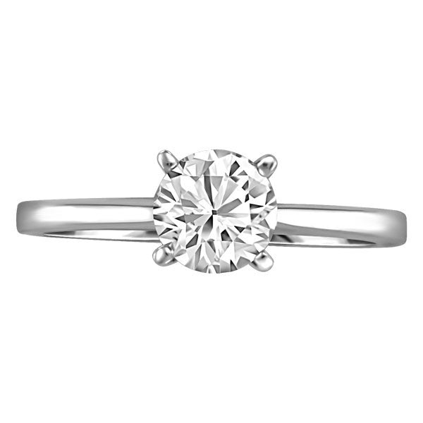 WHITE GOLD 0.75 CT SOLITAIRE ENGAGEMENT RING RIN-SOL-0354
