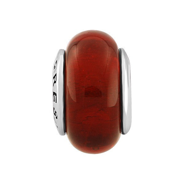 SILVER RED GLASS BEAD BEA-YAF-0080