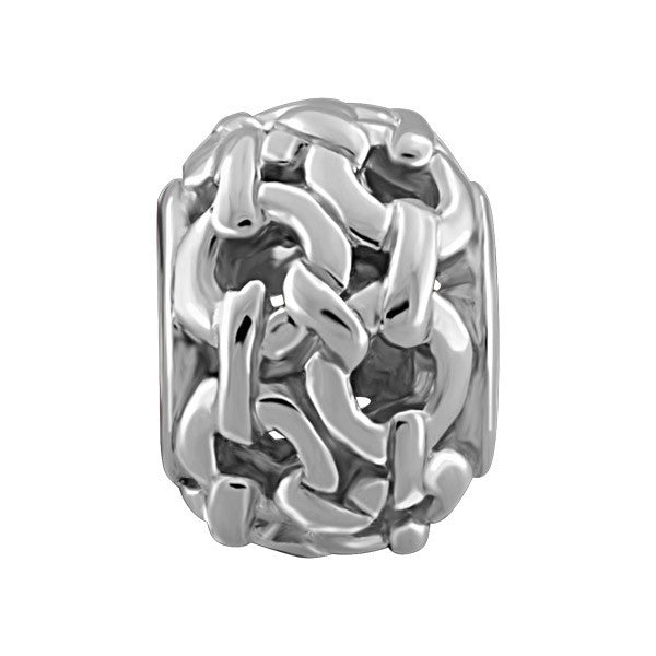 SILVER CHAINLINK BEAD BEA-YAF-0019