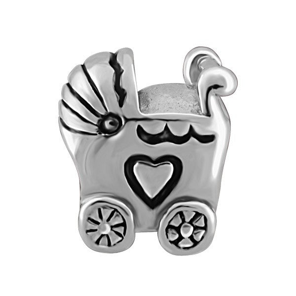 SILVER BABY CARRIAGE BEAD BEA-YAF-0036