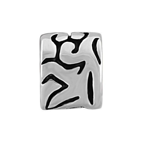 SILVER PATTERNED BEAD BEA-YAF-0057