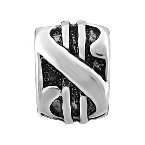SILVER DOLLAR SIGN BEAD BEA-YAF-0061