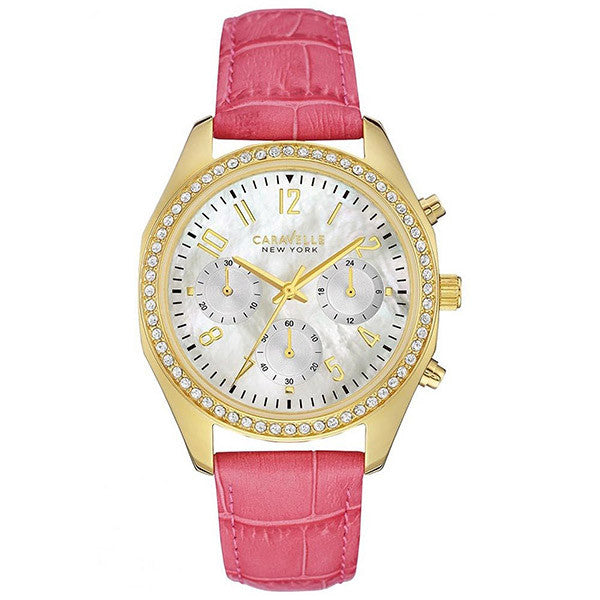 Caravelle Women's New York Melissa MOP Dial Chronograph Pink Watch
