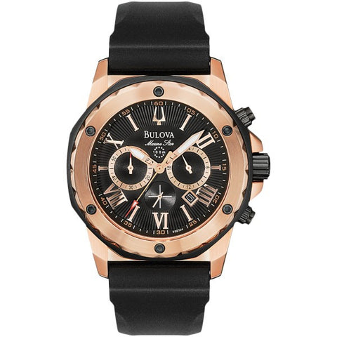 Bulova Men's Rose Tone Calendar Watch