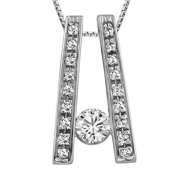 WHITE GOLD CANADIAN DIAMOND PENDANT PEN-CAN-0637