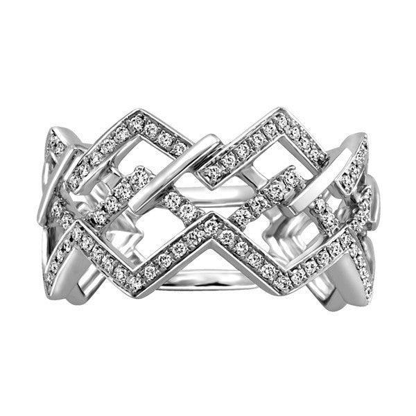 "GOLD DIAMOND ""ZIG ZAG"" RING"