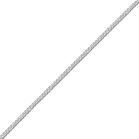"14"" WHITE GOLD CURB CHAIN CHA-CUR-0651"