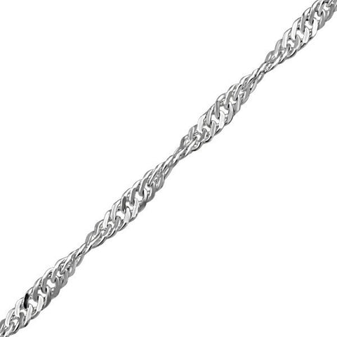 "16"" WHITE GOLD SINGAPORE CHAIN CHA-GLD-0721"